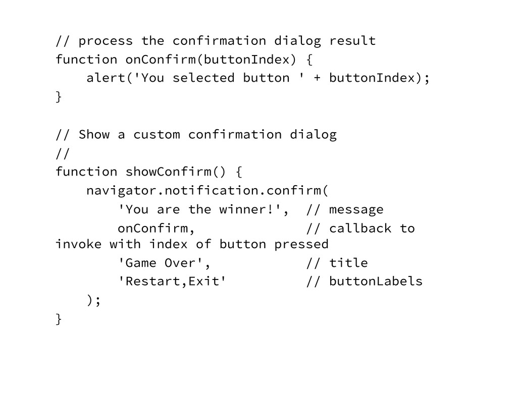 // process the confirmation dialog result func...