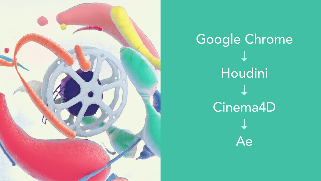 Google Chrome   ↓   Houdini   ↓   Cinema4D   ↓ ...