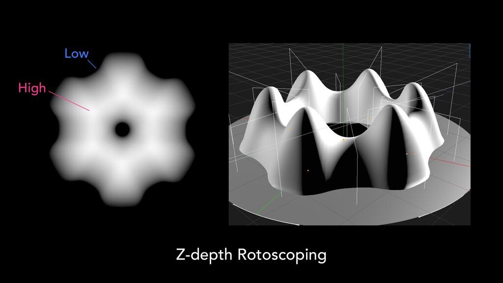 Z-depth Rotoscoping High Low