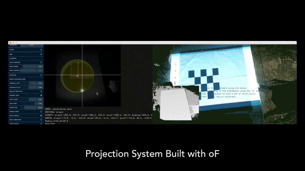 Projection System Built with oF