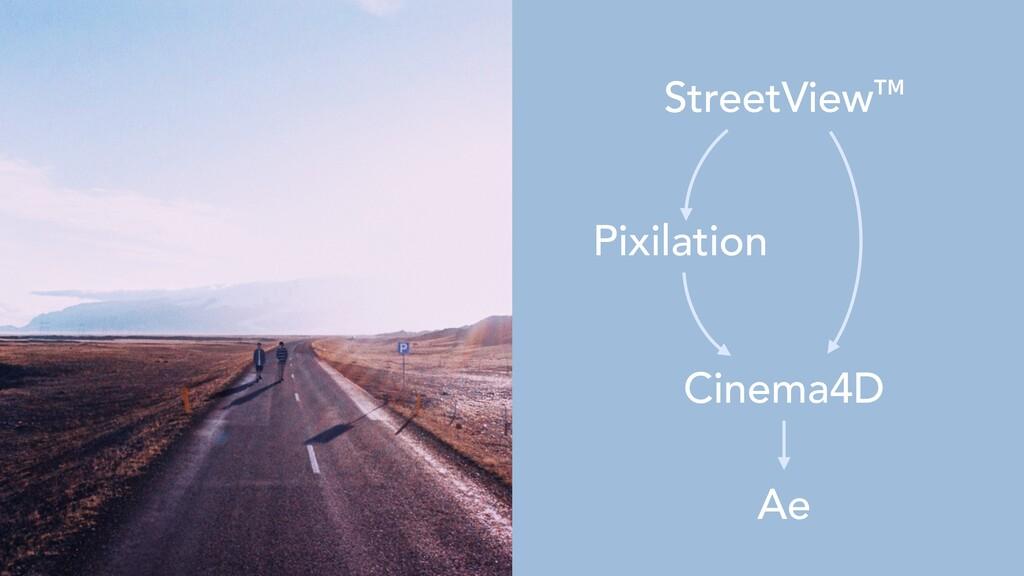 Cinema4D     Ae StreetView™ Pixilation