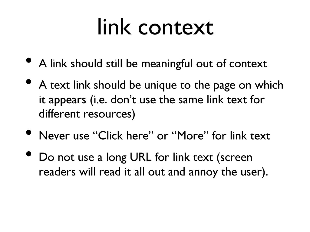 link context  • A link should still be meani...