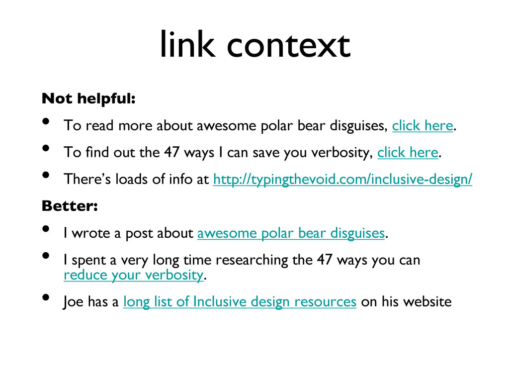 link context  Not helpful:  • To read more...