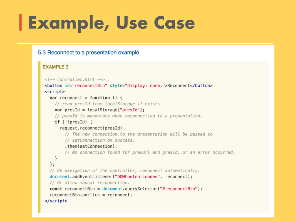 Example, Use Case