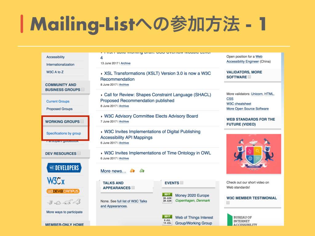 Mailing-ListͷՃํ๏ - 1
