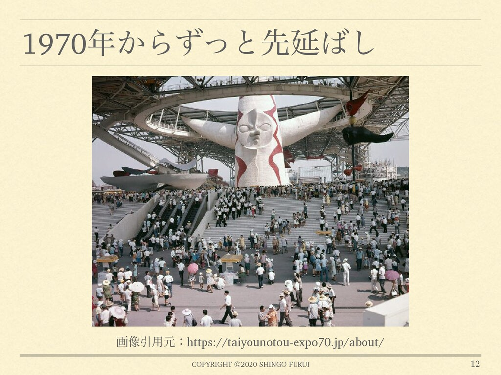 COPYRIGHT ©2020 SHINGO FUKUI 1970͔ΒͣͬͱઌԆ͠ 12 ...