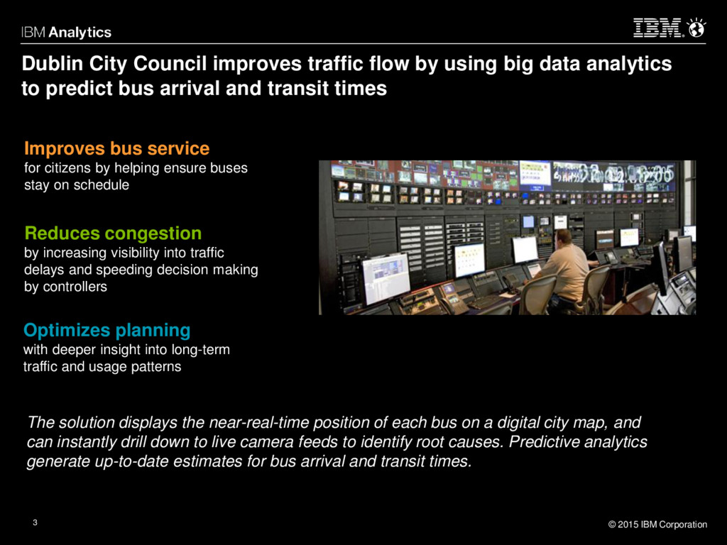 © 2015 IBM Corporation 3 Optimizes planning wit...