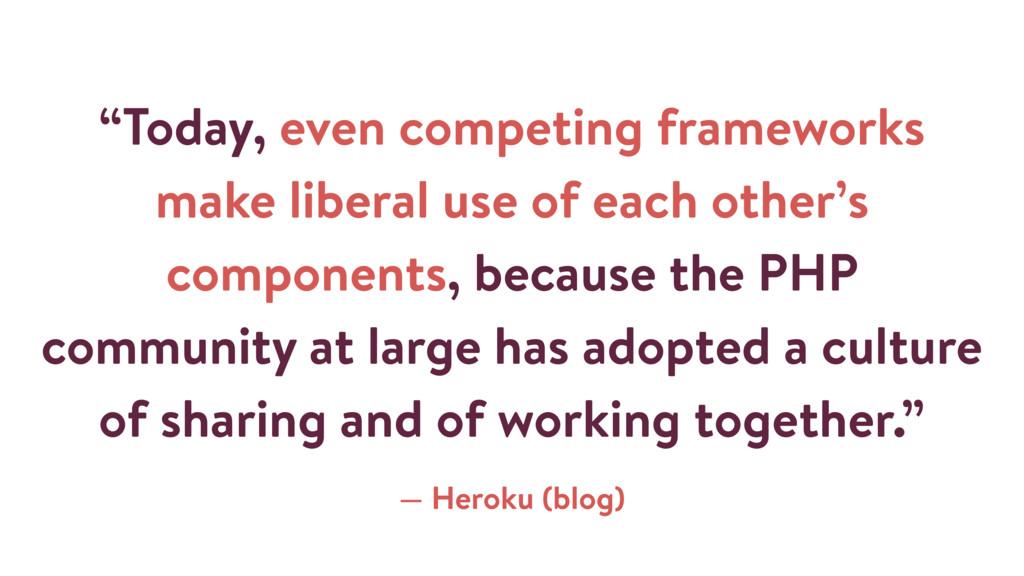 """Today, even competing frameworks make liberal ..."