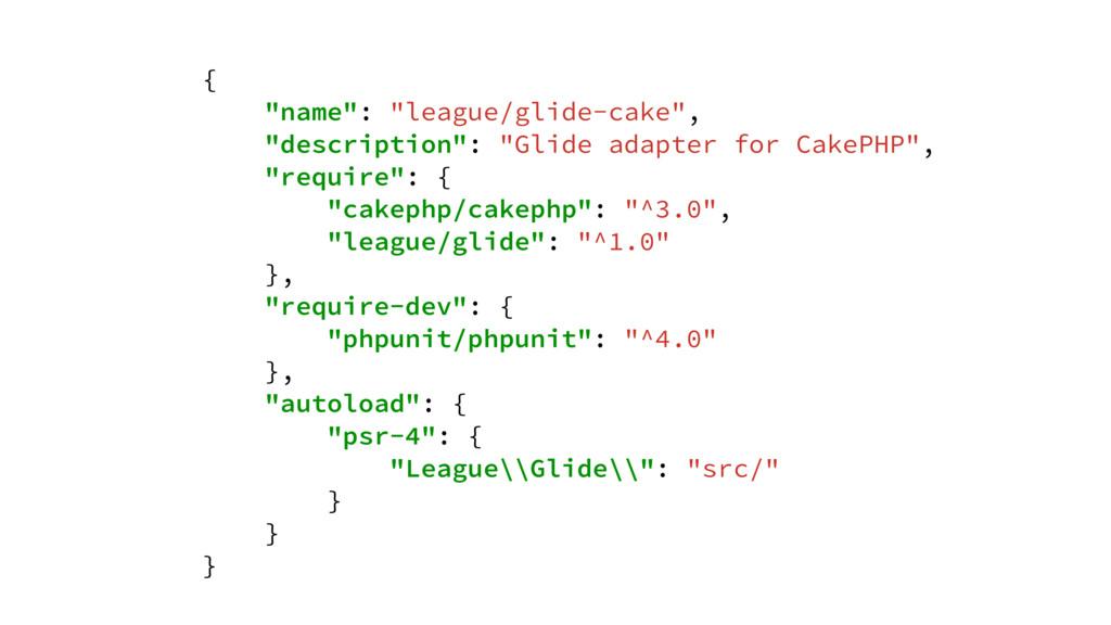 """{ """"name"""": """"league/glide-cake"""", """"description"""": """"..."""