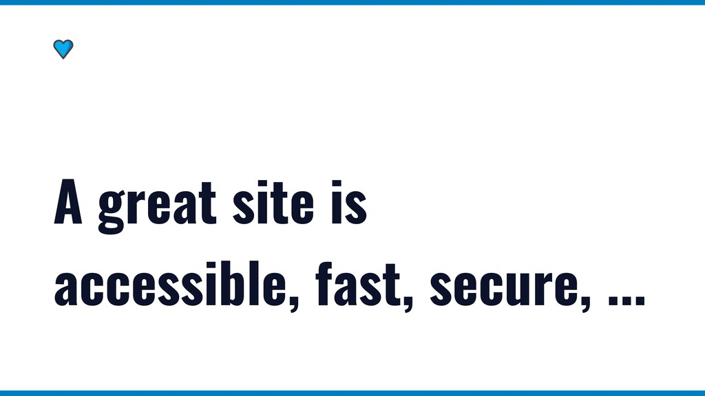A great site doesn't have to be built with Reac...