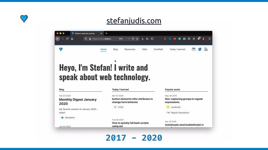 stefanjudis.com 2017 - 2020