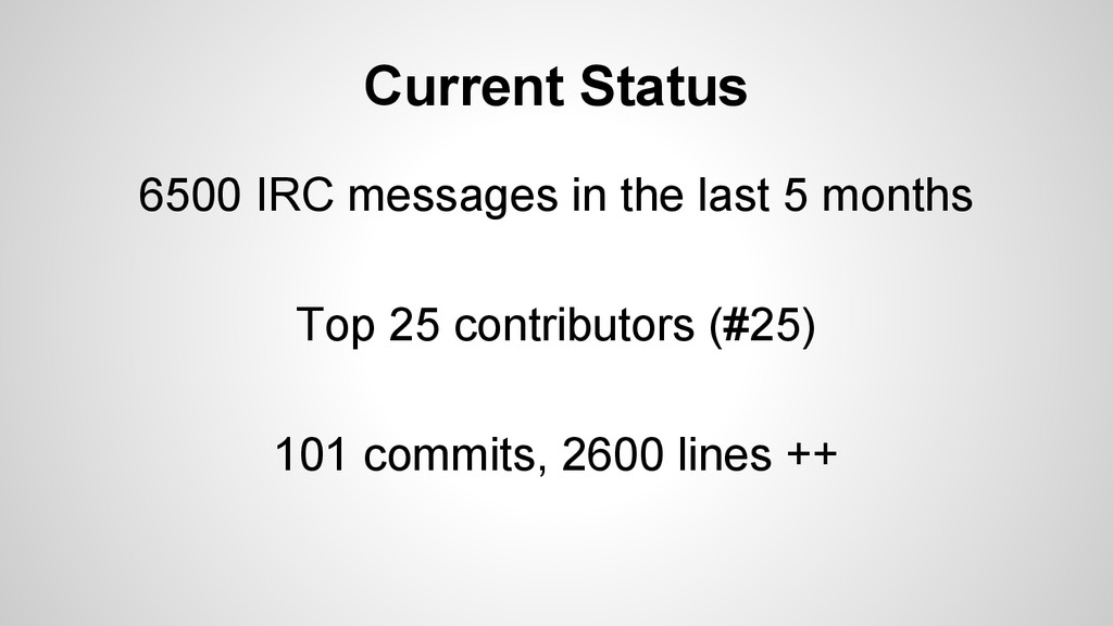 Current Status 6500 IRC messages in the last 5 ...