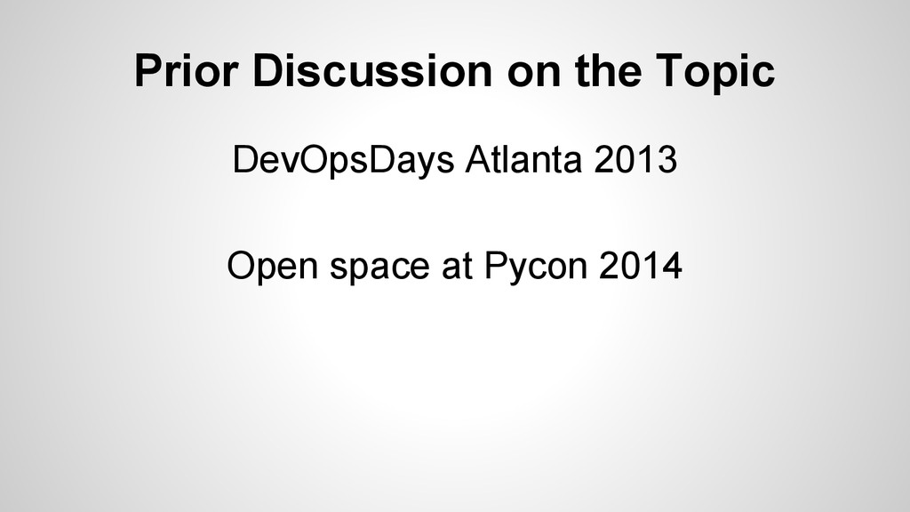 Prior Discussion on the Topic DevOpsDays Atlant...