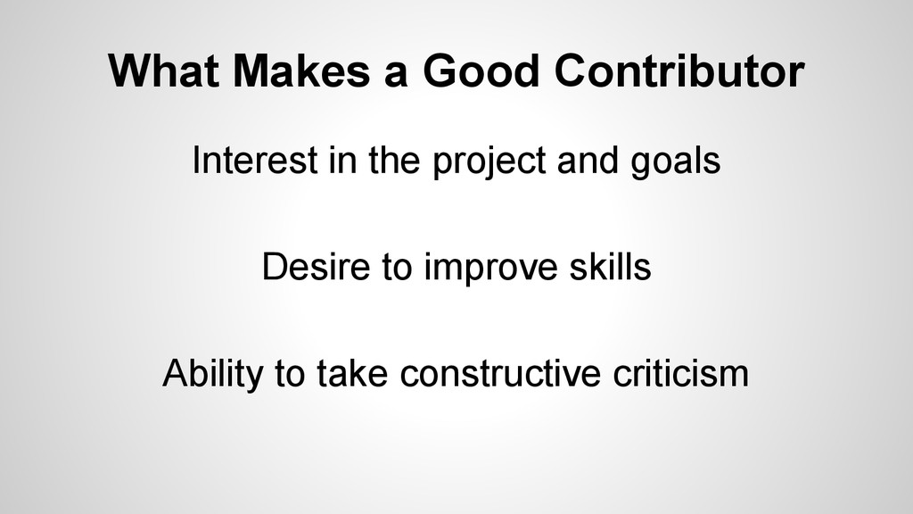 What Makes a Good Contributor Interest in the p...
