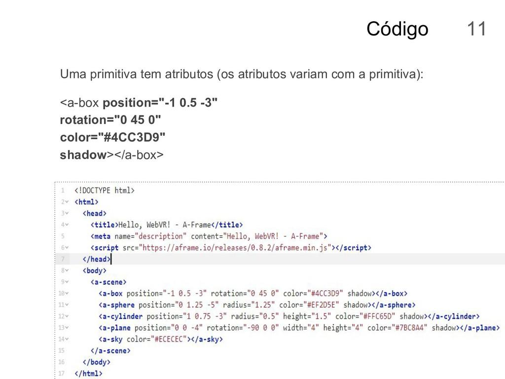 Código Uma primitiva tem atributos (os atributo...