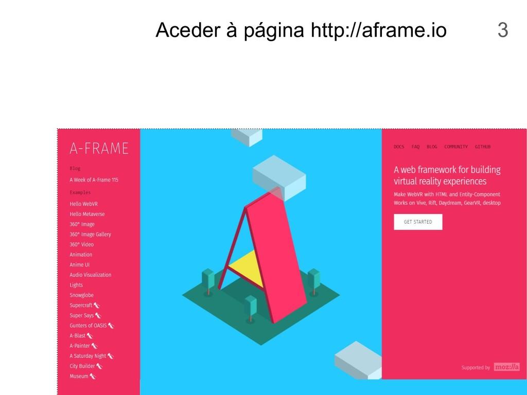 Aceder à página http://aframe.io 3