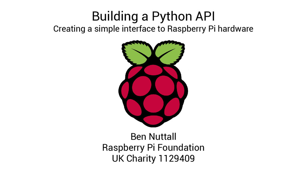 Building a Python API Creating a simple interfa...