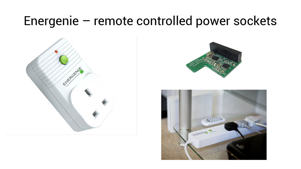 Energenie – remote controlled power sockets