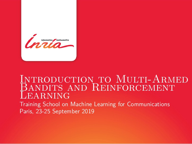 Introduction to Multi-Armed Bandits and Reinfor...
