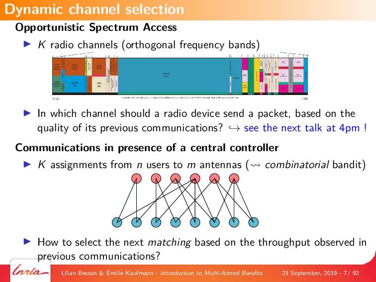 Opportunistic Spectrum Access K radio channels ...