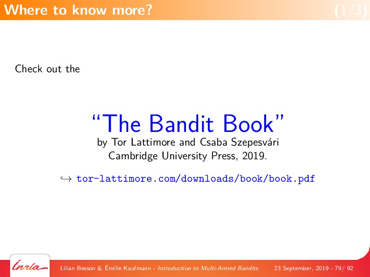 """Check out the """"The Bandit Book"""" by Tor Lattimor..."""