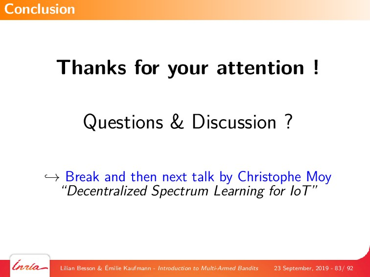 Thanks for your attention ! Questions & Discuss...