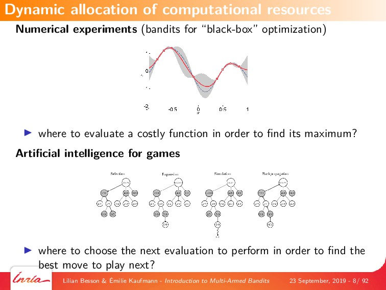 """Numerical experiments (bandits for """"black-box"""" ..."""