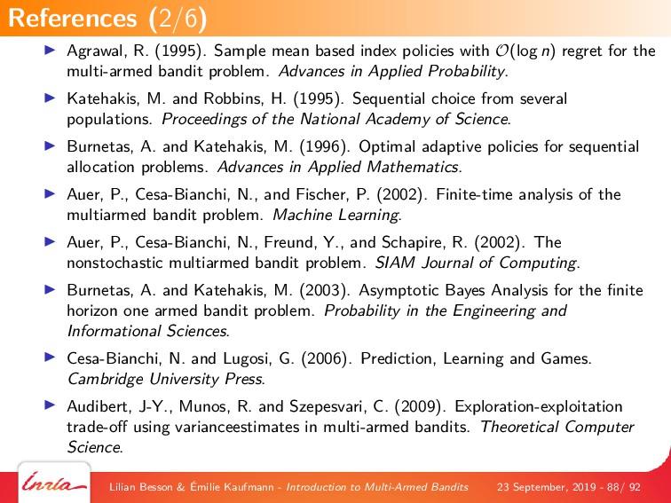 Agrawal, R. (1995). Sample mean based index pol...