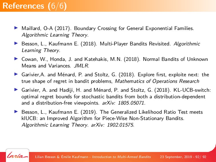 Maillard, O-A (2017). Boundary Crossing for Gen...