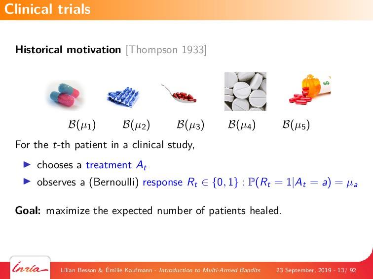 Historical motivation [Thompson 1933] B(µ1) B(µ...