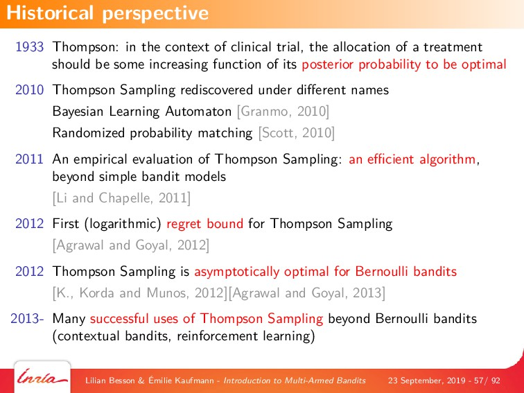 1933 Thompson: in the context of clinical trial...