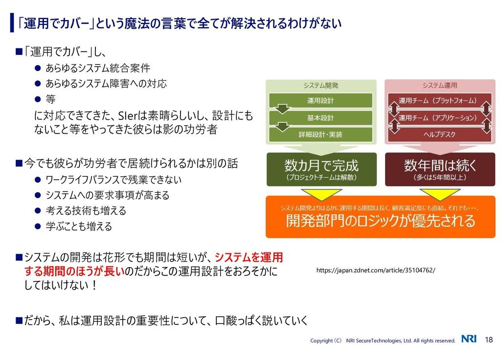 18 Copyright (C) NRI SecureTechnologies, Ltd. A...