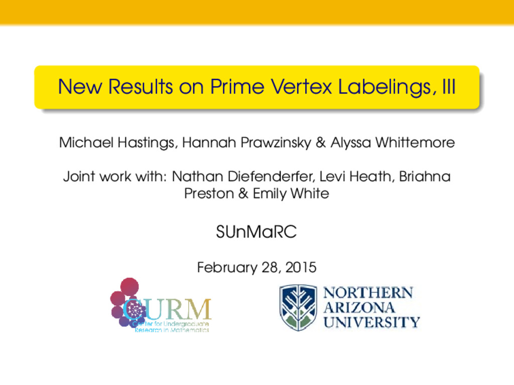 New Results on Prime Vertex Labelings, III Mich...