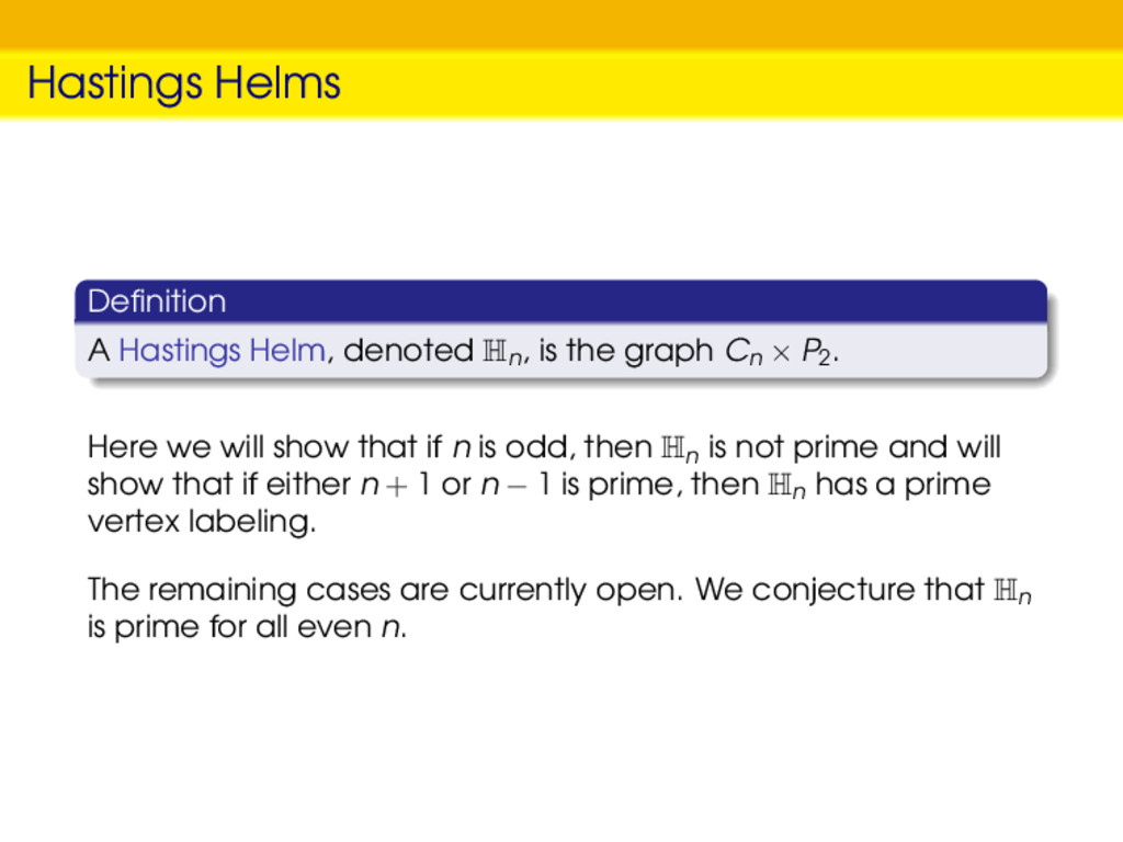 Hastings Helms Definition A Hastings Helm, denot...