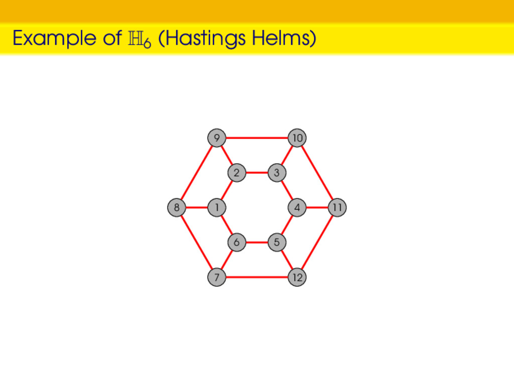 Example of H6 (Hastings Helms) 1 2 3 4 5 6 8 9 ...
