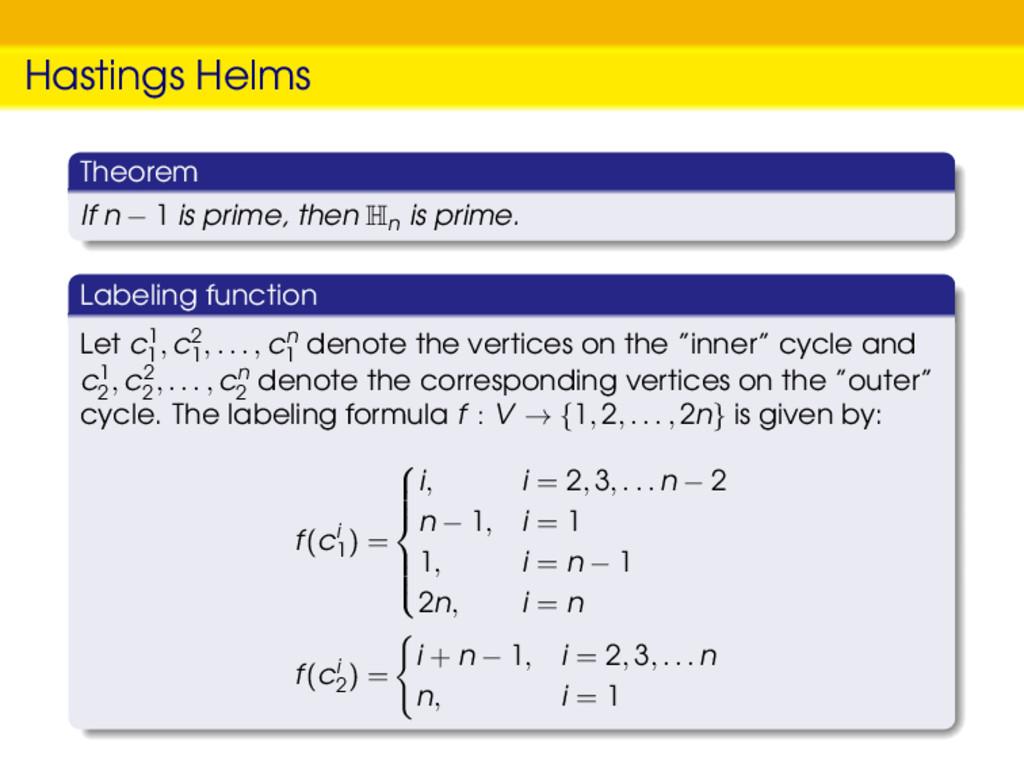 Hastings Helms Theorem If n − 1 is prime, then ...