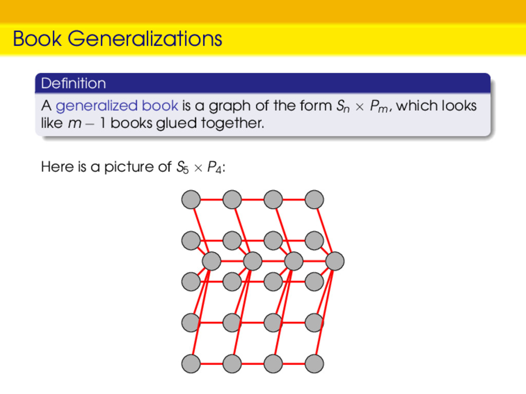Book Generalizations Definition A generalized bo...