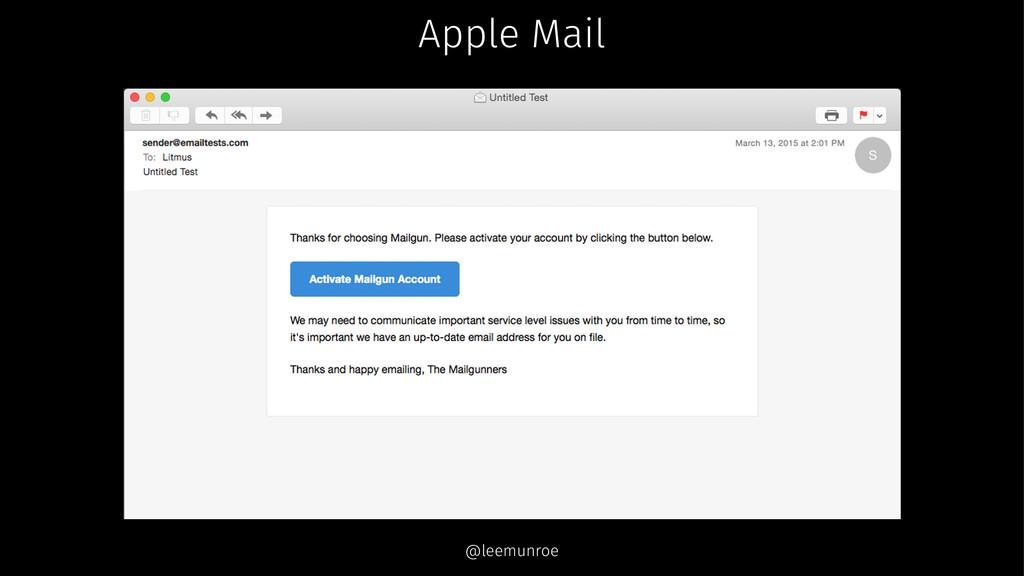 Apple Mail @leemunroe