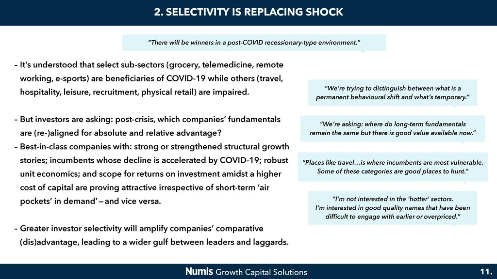 2. SELECTIVITY IS REPLACING SHOCK – It's unders...