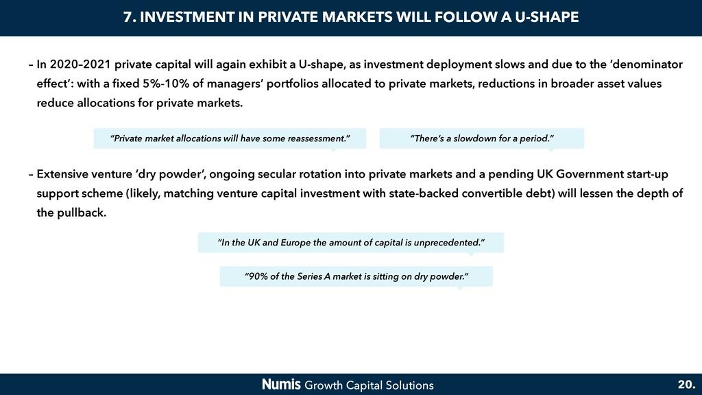– In 2020–2021 private capital will again exhib...