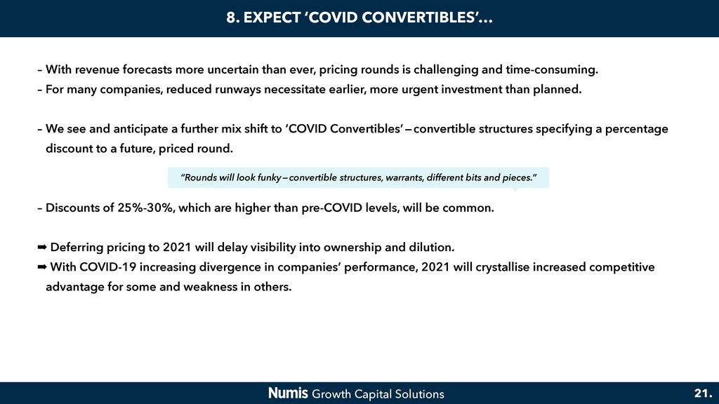 8. EXPECT 'COVID CONVERTIBLES'… – With revenue ...