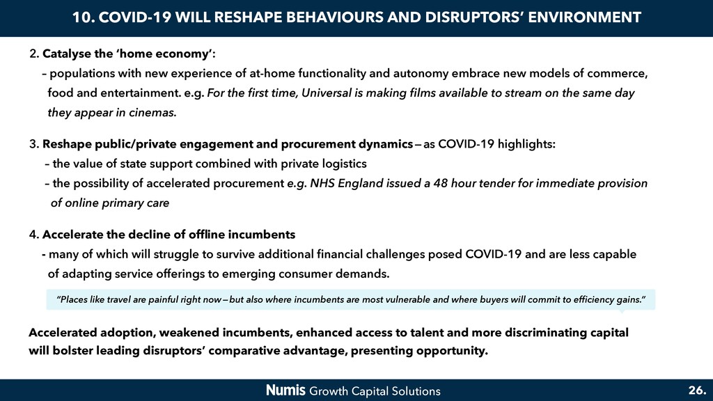 10. COVID-19 WILL RESHAPE BEHAVIOURS AND DISRUP...