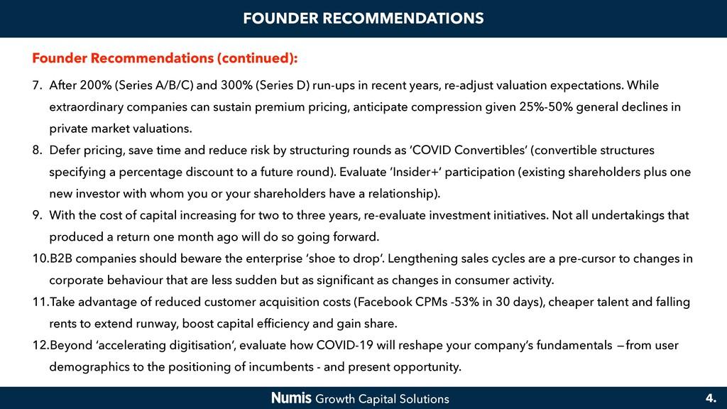 FOUNDER RECOMMENDATIONS Founder Recommendations...