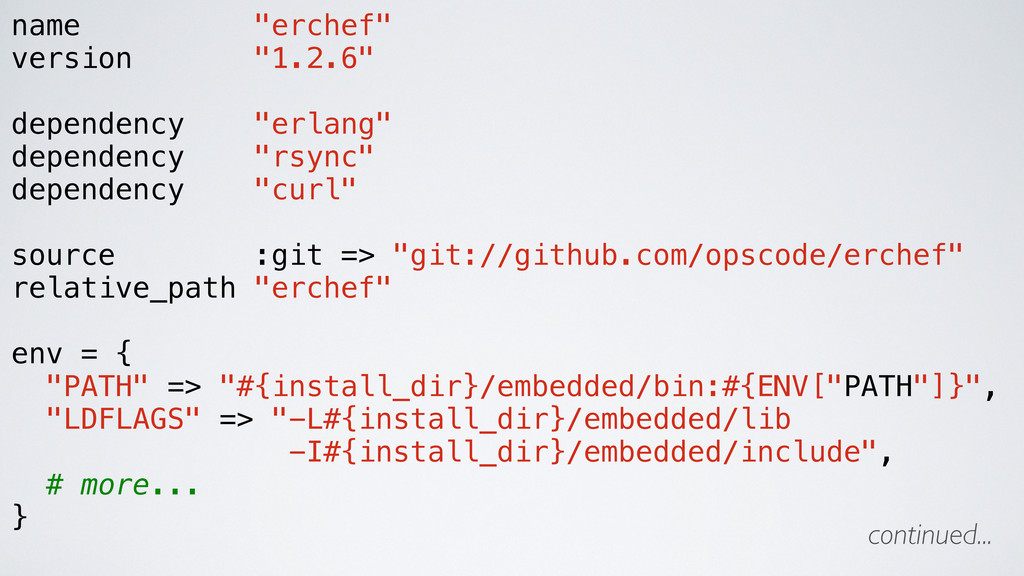 "name ""erchef"" version ""1.2.6"" dependency ""erlan..."