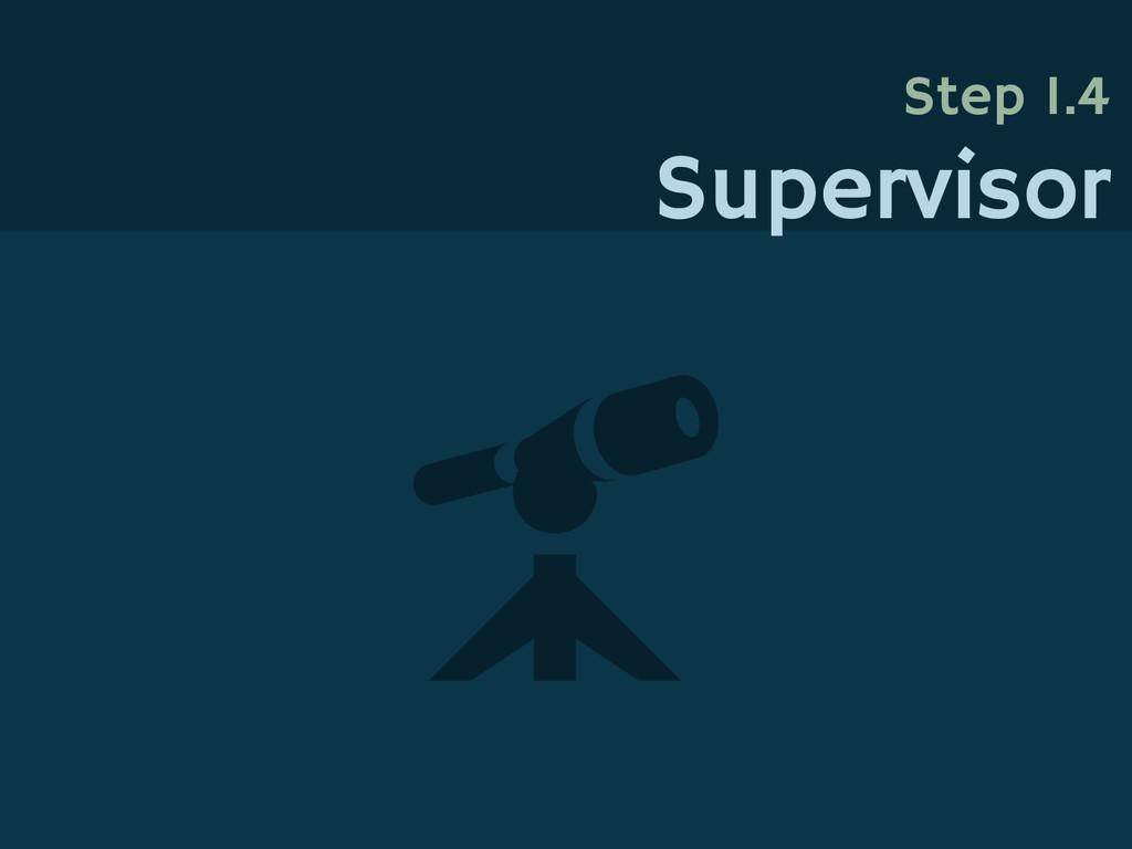 Step 1.4 Supervisor