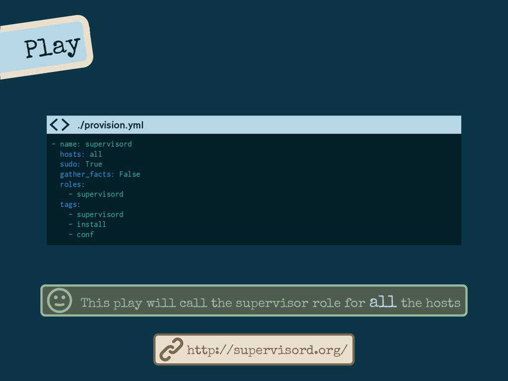 Play - name: supervisord hosts: all sudo: True ...