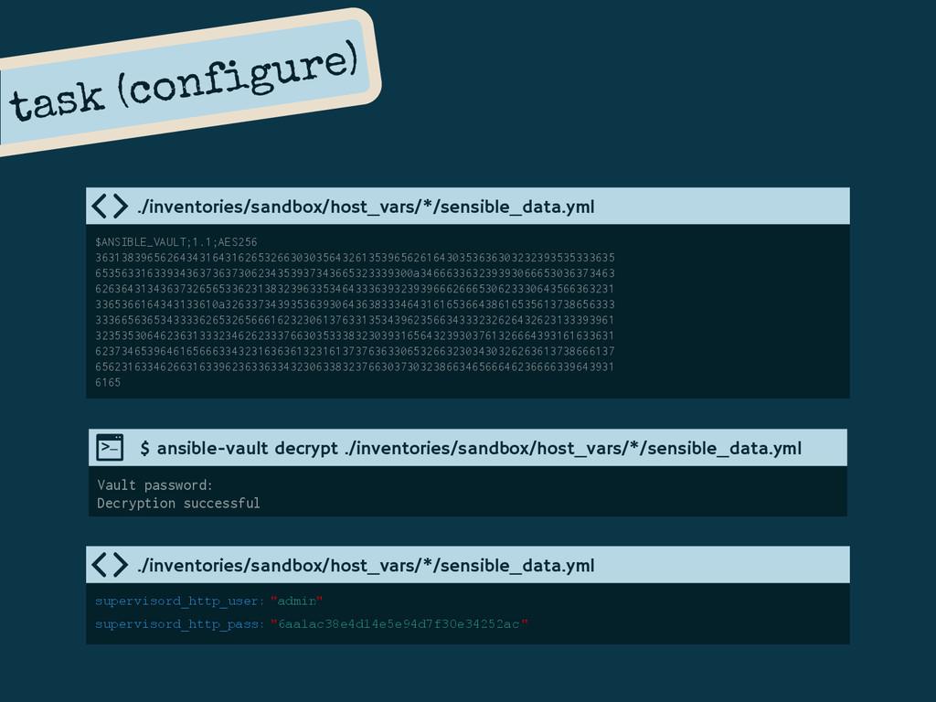 task (configure) ./inventories/sandbox/host_var...