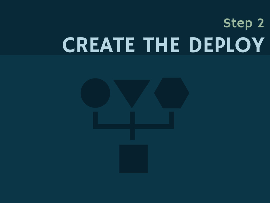 Step 2 CREATE THE DEPLOY