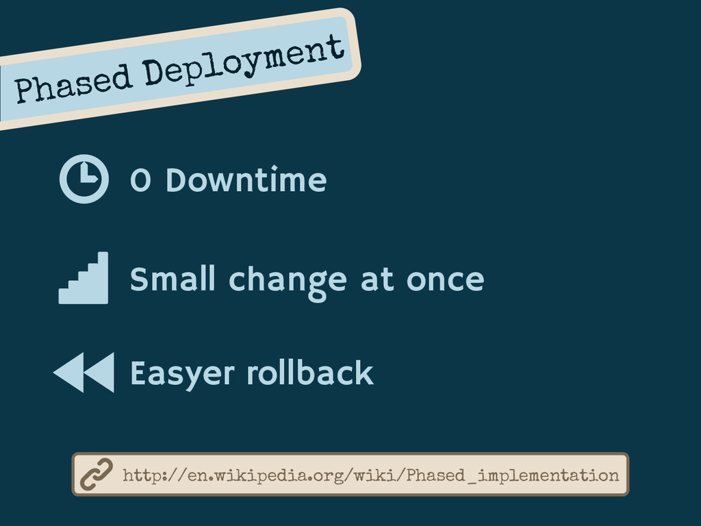 Phased Deployment 0 Downtime Small change at on...