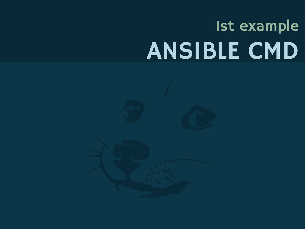 1st example ANSIBLE CMD